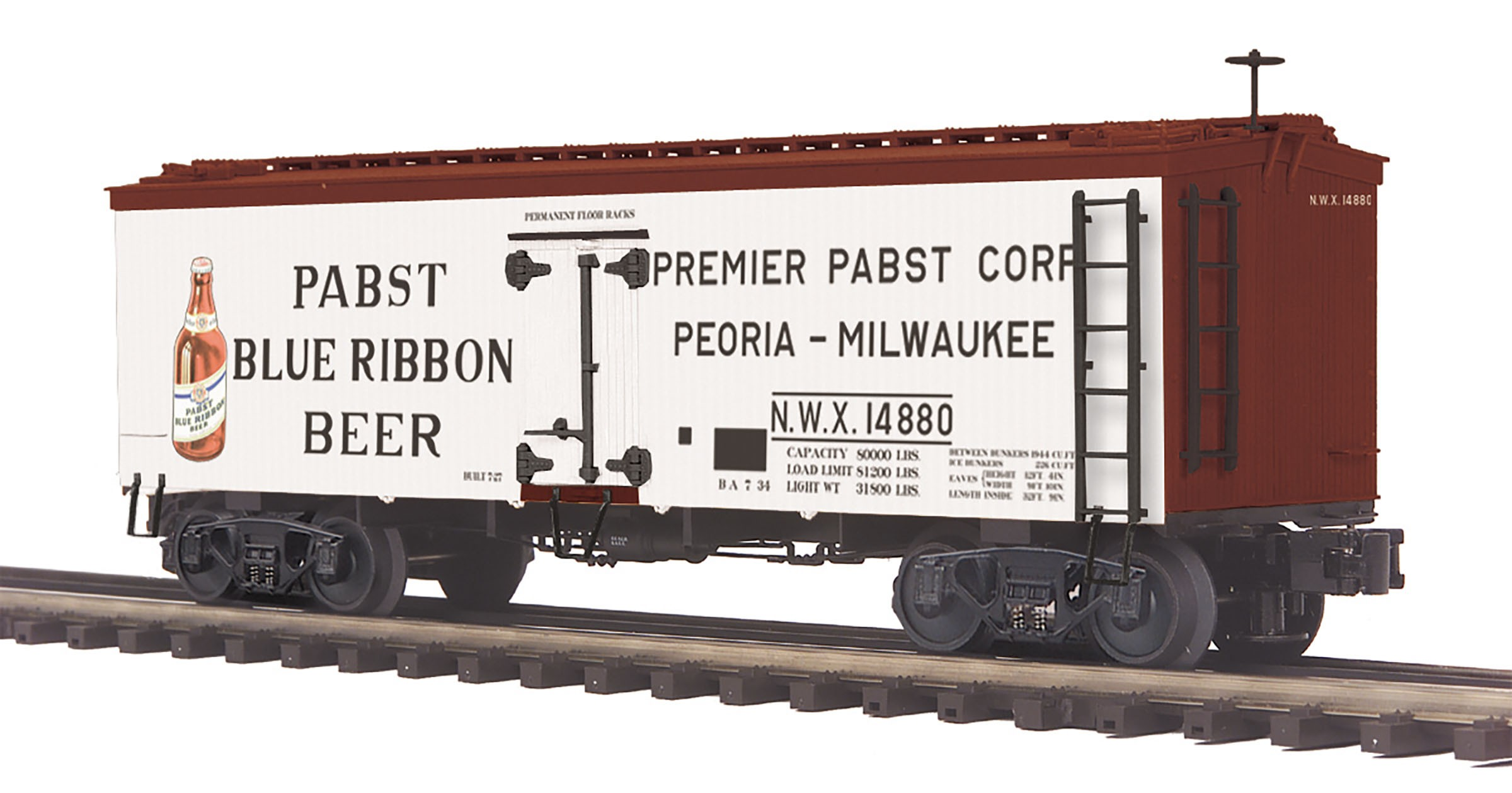 20-94434  Pabst Blue Ribbon 36' Woodsided Reefer