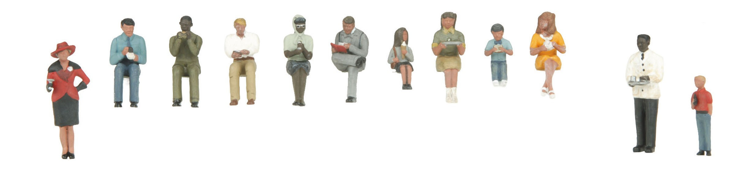 30-11067  Passenger Figure Set #3 - 12 pc
