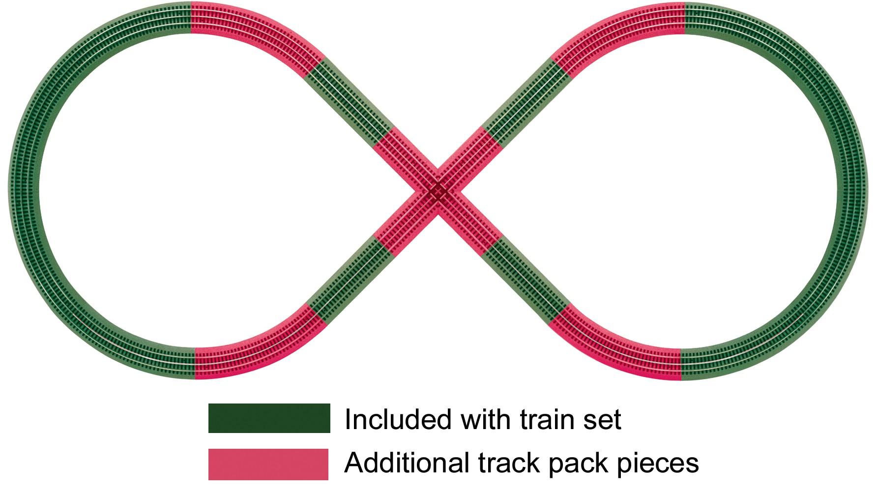 6-12030  FasTrack Figure 8 Track Pack