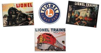 6-22477  Lionel Tin Sign Replica (4 Pk)
