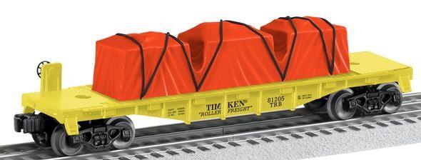 6-81205  US Made Timken Flat Car w/Load