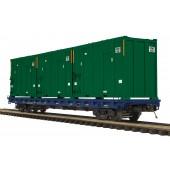 20-95257  CSX 60' Flat Car w/Trash Containers