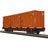 20-95260  NS 60' Flat Car w/Trash Containers