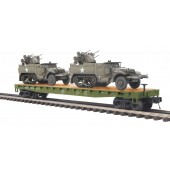 20-95327  US Army Flat w/2 Half Track M16 Scout cars