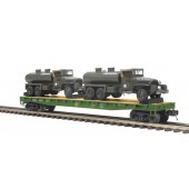 20-95399  US Army Flat Car w/GMC 353 6x6 Tank Truck