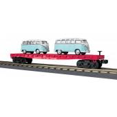 30-76677    SP Flat Car w/2 VW Buses