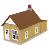 30-90008  Mustard & Red Work House #1